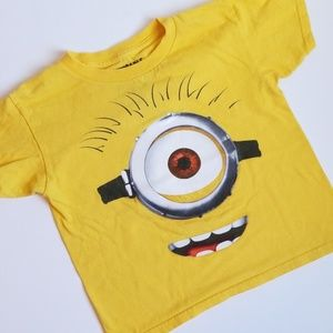 MINIONS DESPICABLE ME 2 6/7 YELLOW TEE